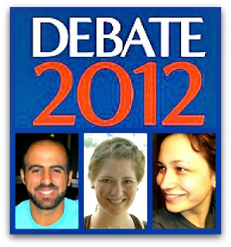 Presidential Debate collage
