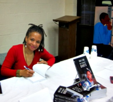Teresa Willis at a book signing in Atlanta