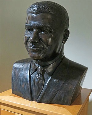 Bust of Whitney Young in Social Work Library