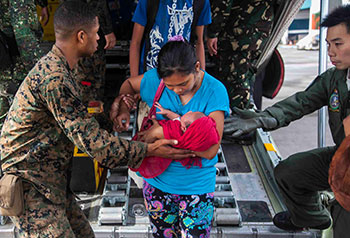 Rescue operations, wake of Typhoon Haiyan