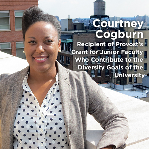 courtney cogburn receives provost s diversity grant for work on
