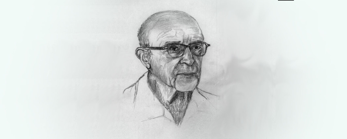 Sketch drawing of psychologist Carl Rodgers