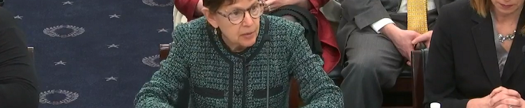 Jane Waldfogel delivering testimony to Congressional hearing